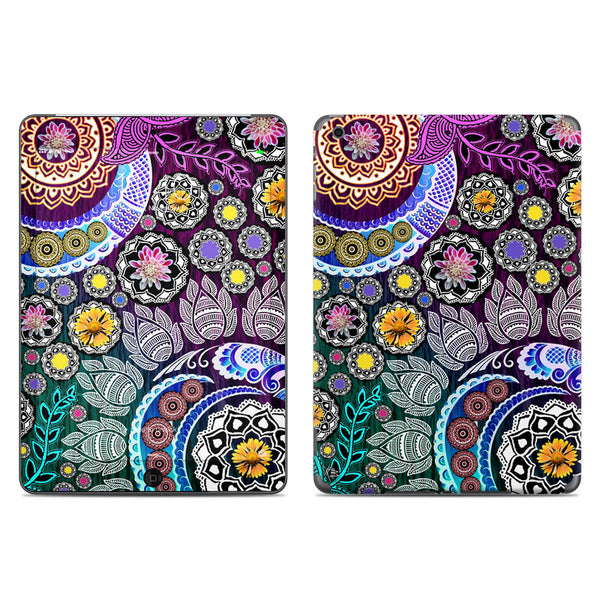 Mehndi Garden - Purple and Green Paisley Floral - iPad AIR 2 Vinyl Skin Decal - iPad AIR 2 - SKIN - 1