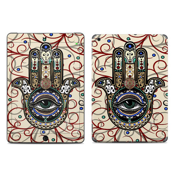 Sacred Defender Hamsa - Hamsa Hand iPad AIR Vinyl Skin Decal - iPad AIR 1 - SKIN - 1