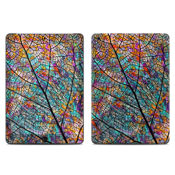 Stained Aspen - Colorful Abstract Aspen Leaf - iPad AIR Vinyl Skin Decal - iPad AIR 1 - SKIN - 1