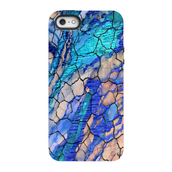 "Blue Abstract iPhone 5s SE TOUGH Case - ""Desert Memories"" Artistic Case For iPhone SE"