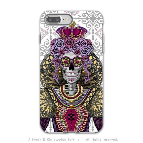 Sugar Skull Renaissance Queen - Artistic iPhone 7 PLUS Tough Case - Dual Layer Protection - Mary Queen of Skulls - iPhone 7 Plus Tough Case - 1