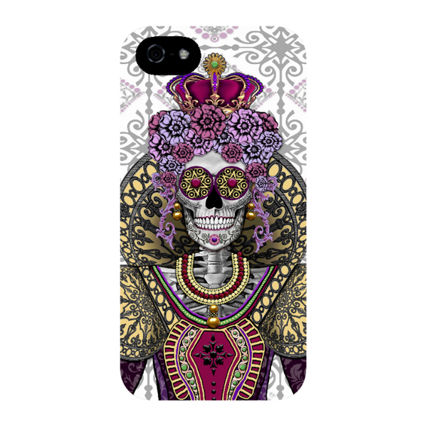 Renaissance Sugar Skull Queen iPhone 5s SE TOUGH Case - Mary Queen of Skull iPhone Case - Day of the Dead - Artistic Case For iPhone 5s SE