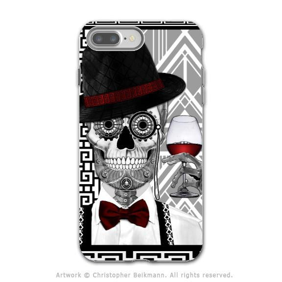 Art Deco Sugar Skull - Artistic iPhone 7 PLUS Tough Case - Dual Layer Protection - Mr JD Vanderbone - iPhone 7 Plus Tough Case - 1