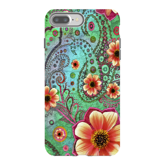 Paisley Paradise iPhone 8 PLUS Tough Case - Premium Dual Layer Protection by Da Vinci Case