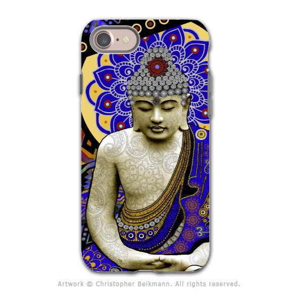 Vibrant Tribal Buddha - Artistic iPhone 7 Tough Case - Dual Layer Protection - Rhythm of My Mind - iPhone 7 Tough Case - 1