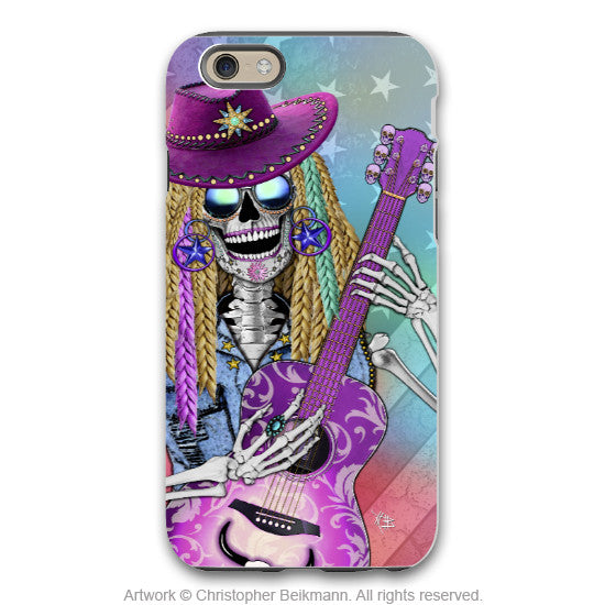 Scary Underwood - Country Girl Skull iPhone 6 6s Plus TOUGH Case - Sugar Skull iPhone Case - Day of the Dead Case for iPhone 6 6s Plus - iPhone 6 6s Plus Tough Case - 1