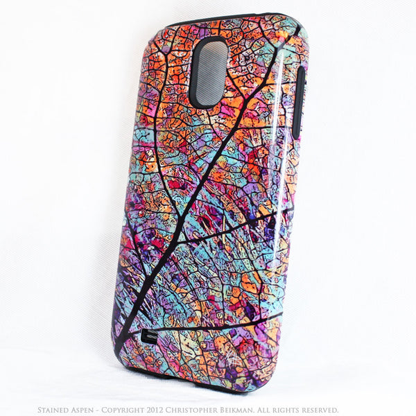 "Aspen Leaf Galaxy S4 case - TOUGH Case - Autumn Leaf Art ""Stained Aspen"" - Galaxy S4 TOUGH Case - 2"
