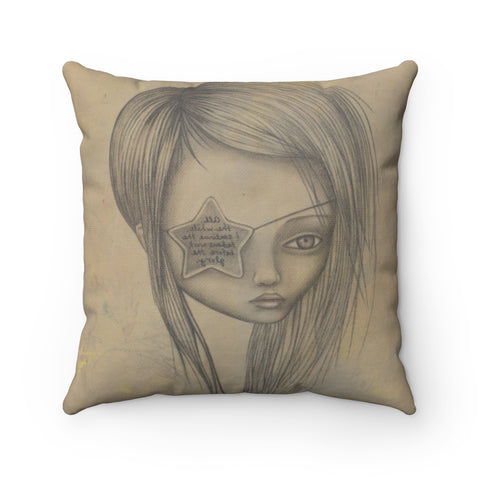 Ms. L Throw Pillow