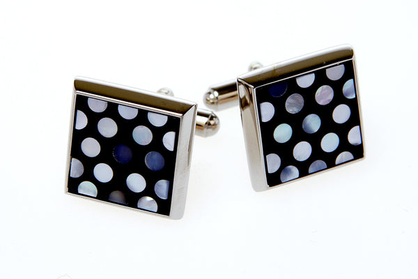 Cufflinks Mother of Pearl Dotty