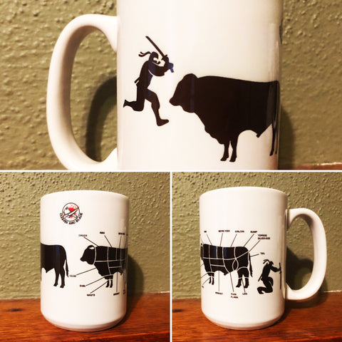 Ninja Butcher Coffee/Whiskey Mug-Coffee Mugs-Cleaverandblade.com