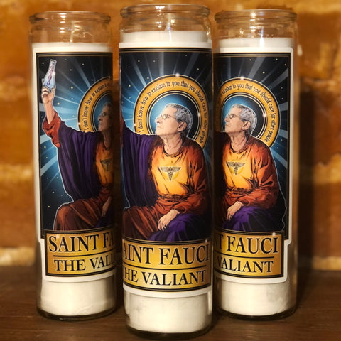 Saint Fauci The Valiant Candle-Candles-Cleaverandblade.com