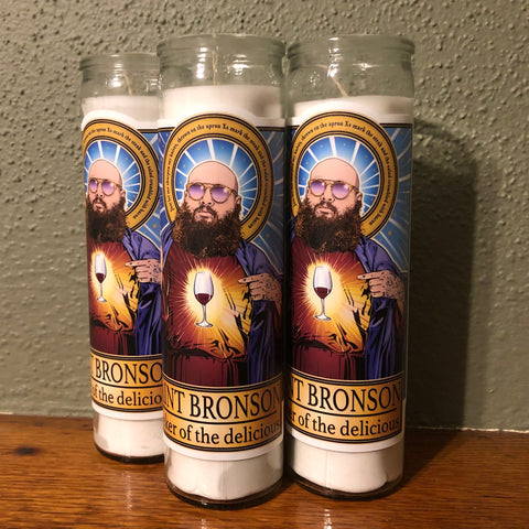 Saint Bronson Seeker of the Delicious Candle-Candles-Cleaverandblade.com
