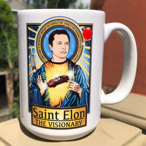 Saint Elon Coffee Mug-Coffee Mugs-Cleaverandblade.com