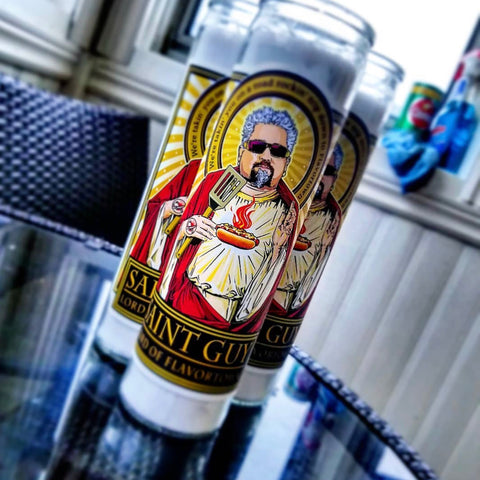 Saint Guy Lord of Flavortown Candle-Coffee Mugs-Cleaverandblade.com
