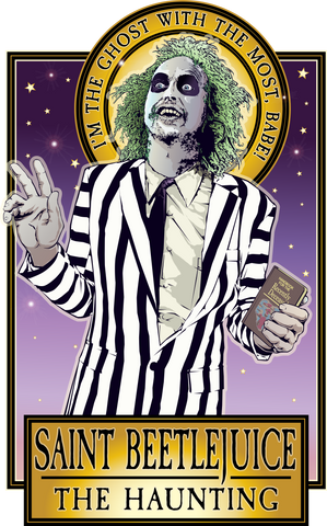 Saint Beetlejuice The Haunting Poster-Posters-Cleaverandblade.com