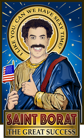 Saint Borat The Great Success Poster-Posters-Cleaverandblade.com