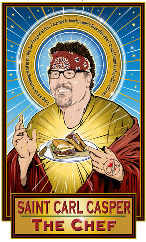 Saint Carl Casper The Chef Poster-Posters-Cleaverandblade.com