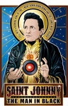 Saint Johnny The Man in Black Poster-Posters-Cleaverandblade.com