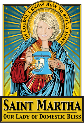 Saint Martha Our Lady of Domestic Bliss Poster-Posters-Cleaverandblade.com