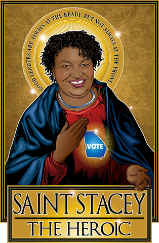 Saint Stacey The Heroic Poster-Posters-Cleaverandblade.com