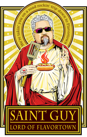 Saint Guy-Lord of Flavortown Poster-Posters-Cleaverandblade.com