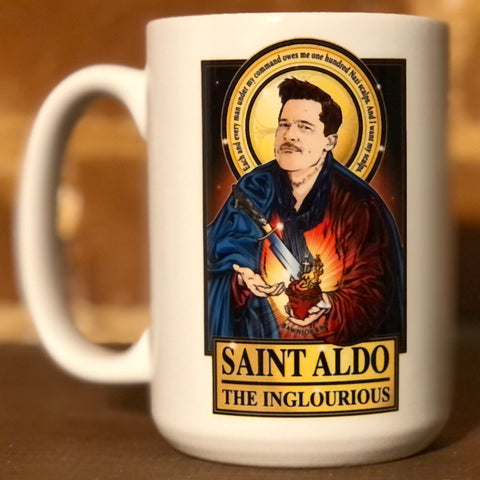 Saint Aldo The Inglorious Coffee Mug-Coffee Mugs-Cleaverandblade.com
