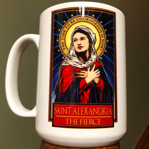 Saint Alexandria The Fierce Coffee Mug-Coffee Mugs-Cleaverandblade.com
