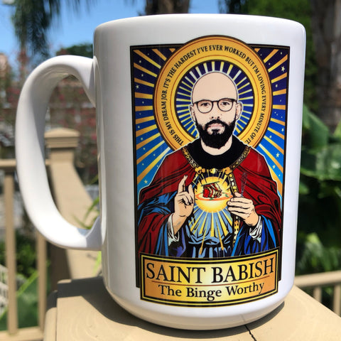 Saint Babish The Binge Worth Coffee Mug-Coffee Mugs-Cleaverandblade.com