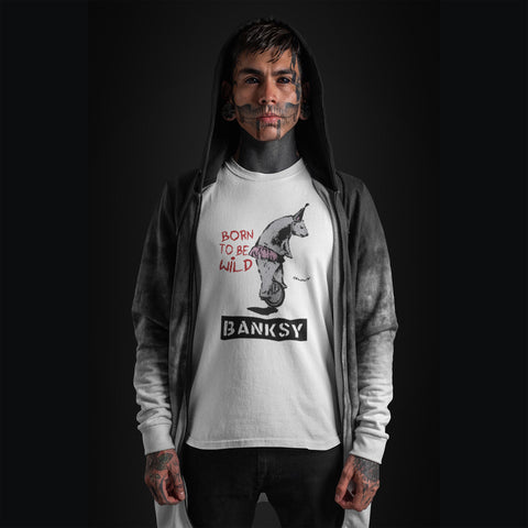Born to be Wild-Banksy T-Shirt-T-Shirts-Cleaverandblade.com