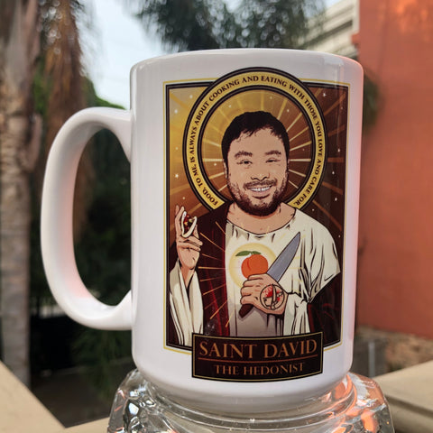 Saint David The Hedonist Coffee/Whiskey Mug-Coffee Mugs-Cleaverandblade.com