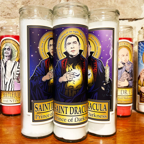 Saint Dracula Prince of Darkness Candle-Candles-Cleaverandblade.com
