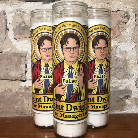 Saint Dwight The Managerial Candle-Candles-Cleaverandblade.com