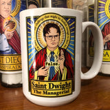 Saint Dwight The Managerial Coffee Mug-Coffee Mugs-Cleaverandblade.com