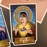 Saint Carl Casper The Chef Magnet-Magnets-Cleaverandblade.com