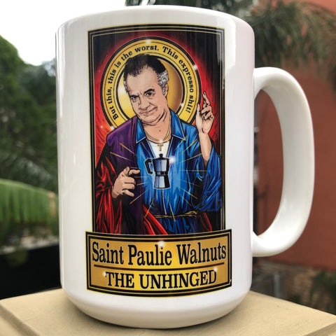 Saint Paulie Walnuts The Unhinged Coffee Mug-Coffee Mugs-Cleaverandblade.com