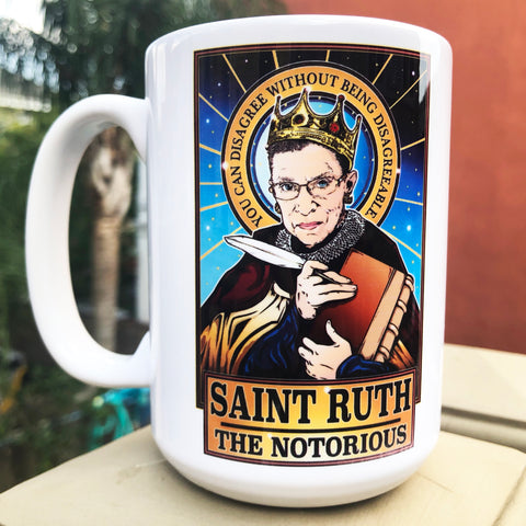 Saint Ruth The Notorious Coffee Mug-Coffee Mugs-Cleaverandblade.com