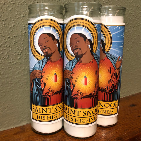 Saint Snoop-His Highness Candle-Candles-Cleaverandblade.com