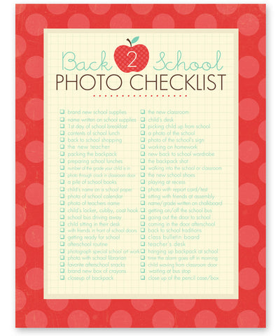 Simple As That Blog Back 2 School Photo Checklist