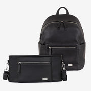 Manhattan Backpack & Pram Caddy - Black Bundle