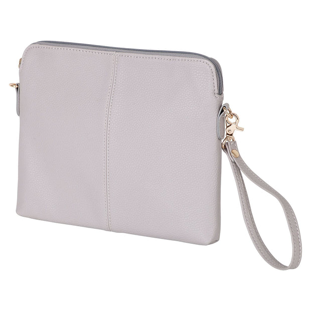 VANCHI Cross Body Clutch - Dove Grey | Vanchi Nappy Bags | Premium Nappy Bags | For Style Savvy Mums