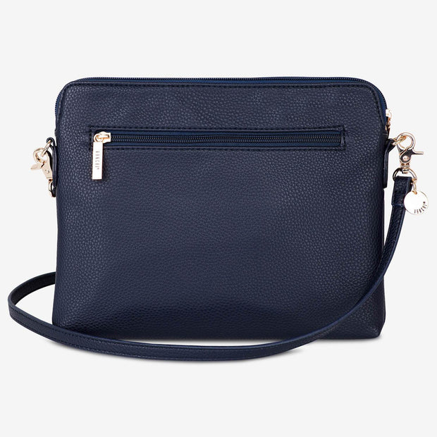 VANCHI Cross Body Clutch - Navy