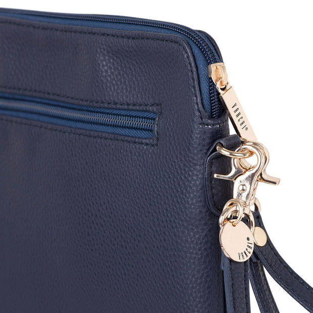 VANCHI Cross Body Clutch - Navy | Vanchi Nappy Bags | Premium Nappy Bags | For Style Savvy Mums