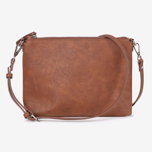Steffi Carryall Nappy Bag & Vegan Leather Crossbody Bag Tan Bundle