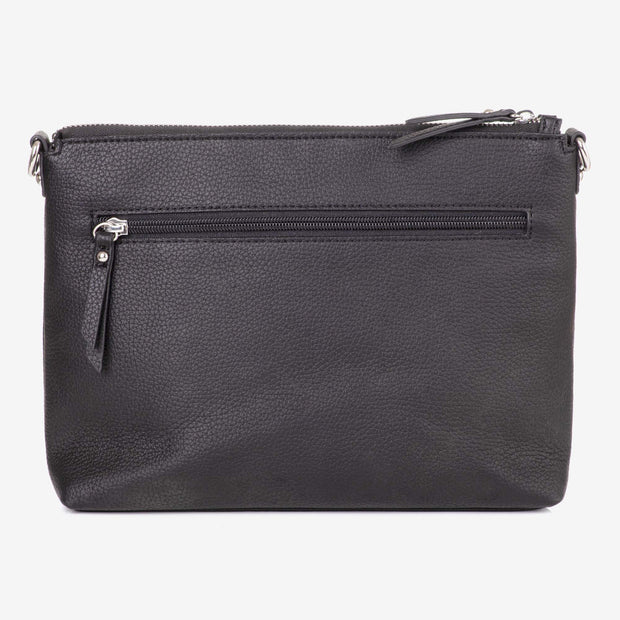 NEW! Vegan Leather Everyday Crossbody Bag - Black