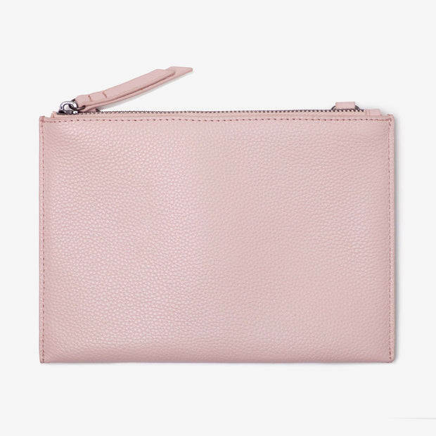 NEW! Leather Pouch - Blush
