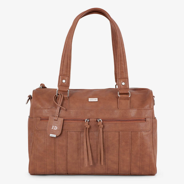 VANCHI Indie Holdall & Pram Caddy - Tan Bundle