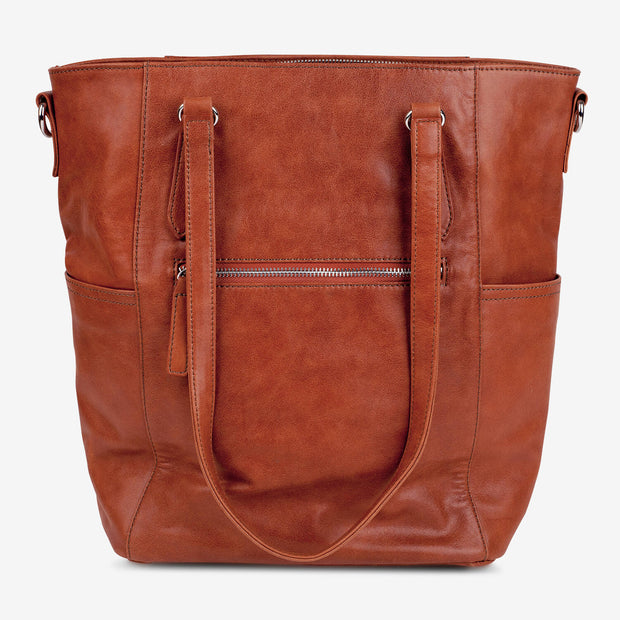 Lucca Leather Tote - Chestnut