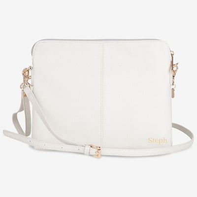 VANCHI Cross Body Clutch - Antique White
