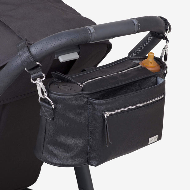 VANCHI Pram Caddy & Shoulder Strap  - Black Bundle