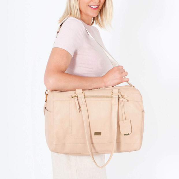 VANCHI Steffi Carryall Nappy Bag - Nude
